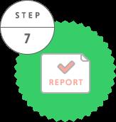 配布完了報告書の提出